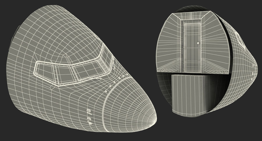 Cockpit d'avion de passagers royalty-free 3d model - Preview no. 18