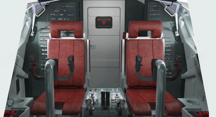 Cockpit d'avion de passagers royalty-free 3d model - Preview no. 10
