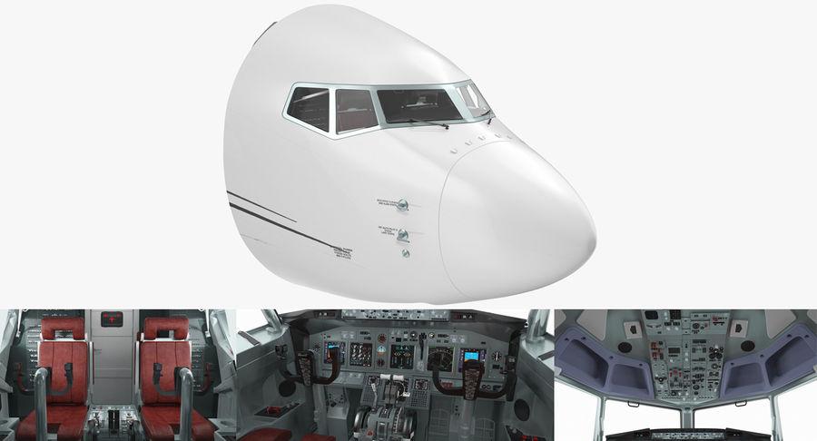 Cockpit d'avion de passagers royalty-free 3d model - Preview no. 2