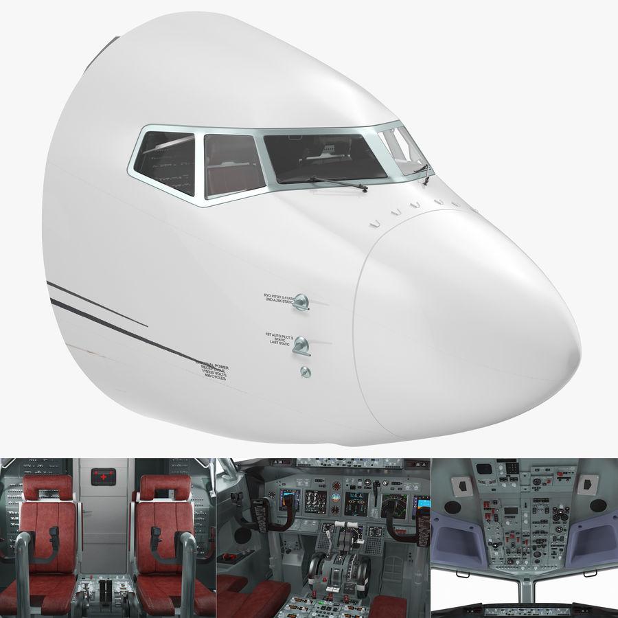 Cockpit d'avion de passagers royalty-free 3d model - Preview no. 1