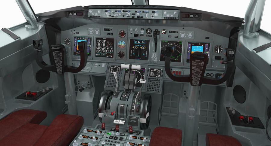 Cockpit d'avion de passagers royalty-free 3d model - Preview no. 6