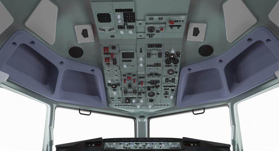 Cockpit d'avion de passagers royalty-free 3d model - Preview no. 7