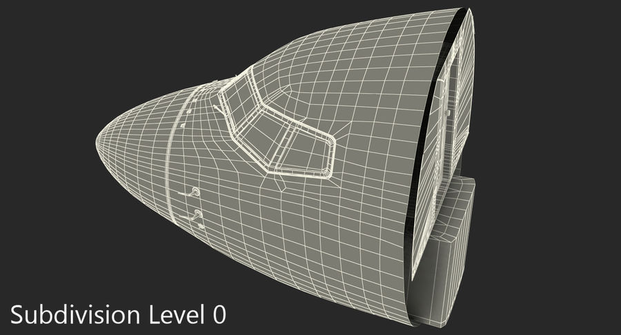 Cockpit d'avion de passagers royalty-free 3d model - Preview no. 11