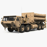 US Mobile Anti Ballistic Missile System THAAD 3d model