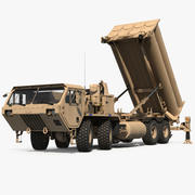 US Mobile Anti Ballistic Missile System THAAD manipuliert 3d model