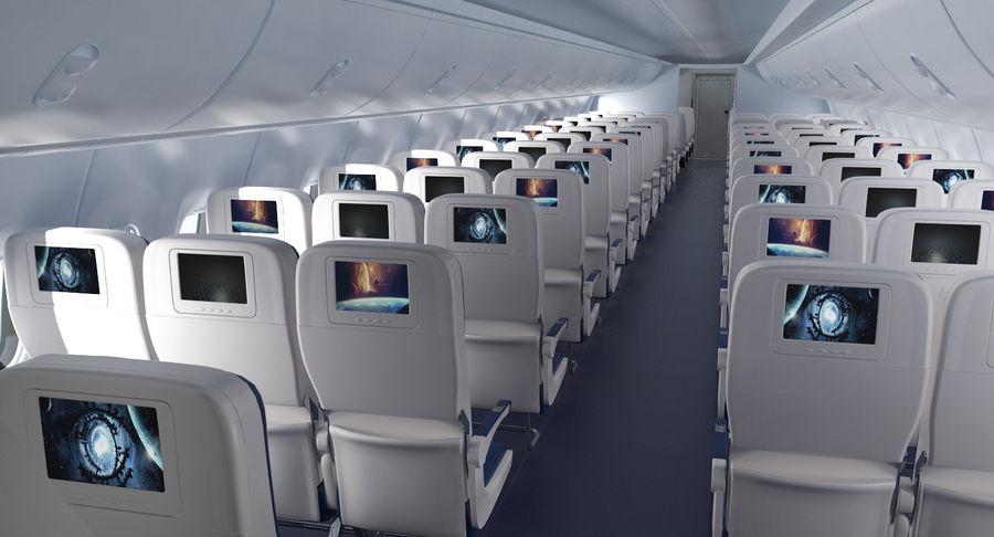Cabina de pasajeros de avión jet royalty-free modelo 3d - Preview no. 5