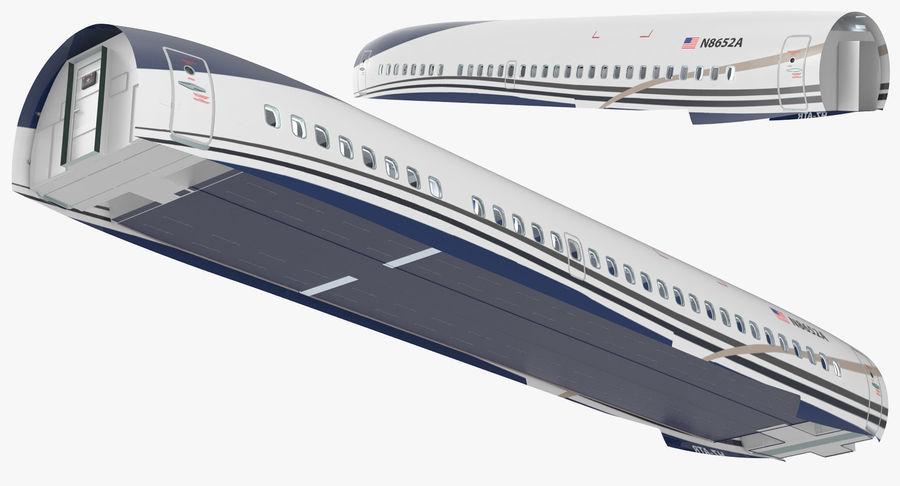 Cabina de pasajeros de avión jet royalty-free modelo 3d - Preview no. 3