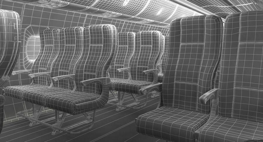 Cabina de pasajeros de avión jet royalty-free modelo 3d - Preview no. 17