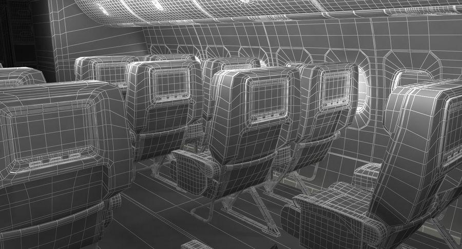 Cabina de pasajeros de avión jet royalty-free modelo 3d - Preview no. 19