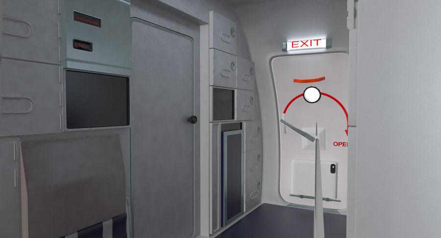Cabina de pasajeros de avión jet royalty-free modelo 3d - Preview no. 8