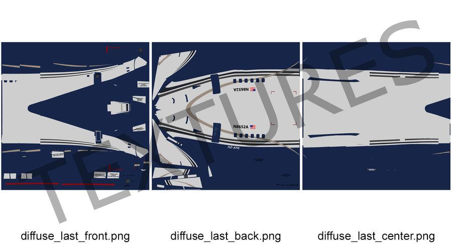 Cabina de pasajeros de avión jet royalty-free modelo 3d - Preview no. 12