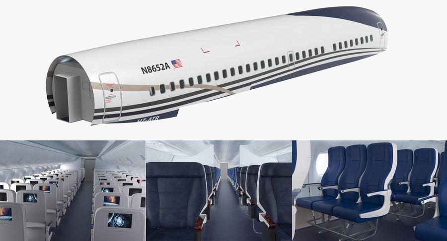 Cabina de pasajeros de avión jet royalty-free modelo 3d - Preview no. 2