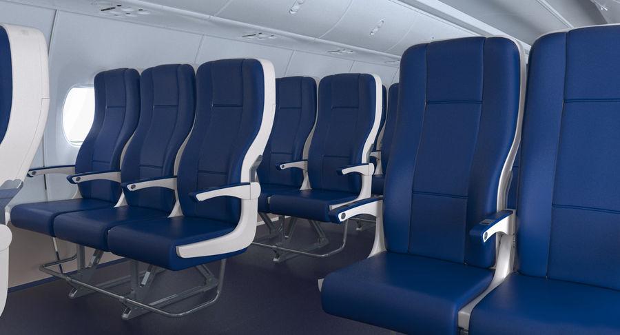 Cabina de pasajeros de avión jet royalty-free modelo 3d - Preview no. 6