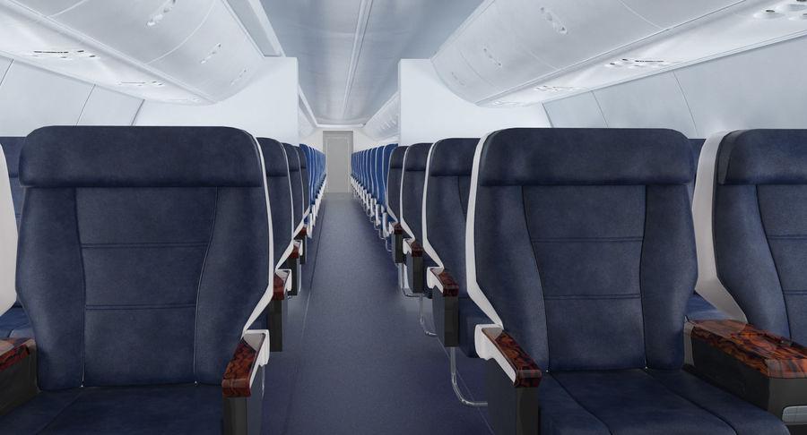 Cabina de pasajeros de avión jet royalty-free modelo 3d - Preview no. 4