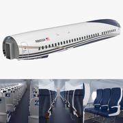 Cabine de passageiros de avião a jato 3d model