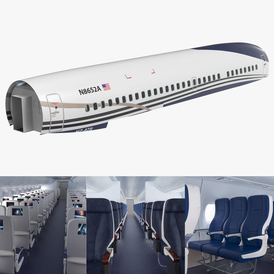 Cabina de pasajeros de avión jet royalty-free modelo 3d - Preview no. 1