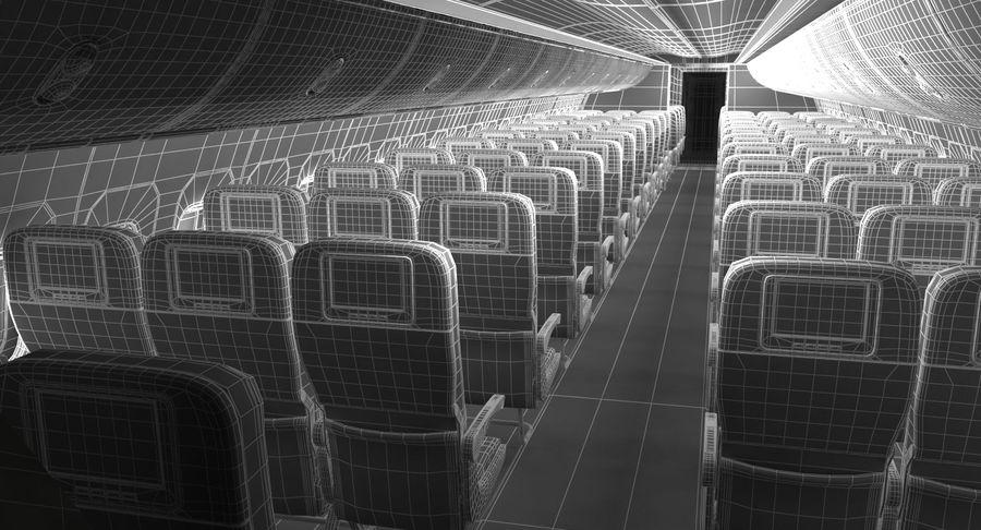 Cabina de pasajeros de avión jet royalty-free modelo 3d - Preview no. 18