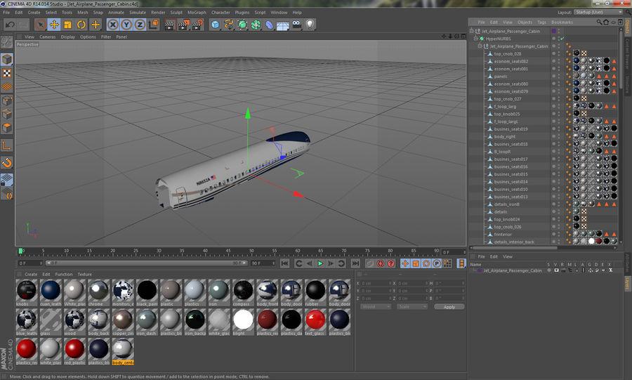 Cabina de pasajeros de avión jet royalty-free modelo 3d - Preview no. 13
