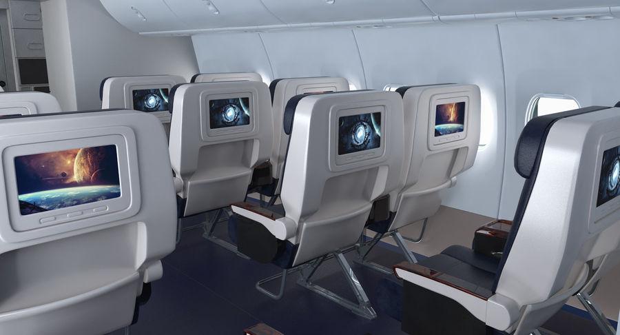 Cabina de pasajeros de avión jet royalty-free modelo 3d - Preview no. 7