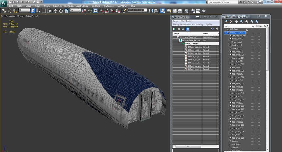 Cabina de pasajeros de avión jet royalty-free modelo 3d - Preview no. 15