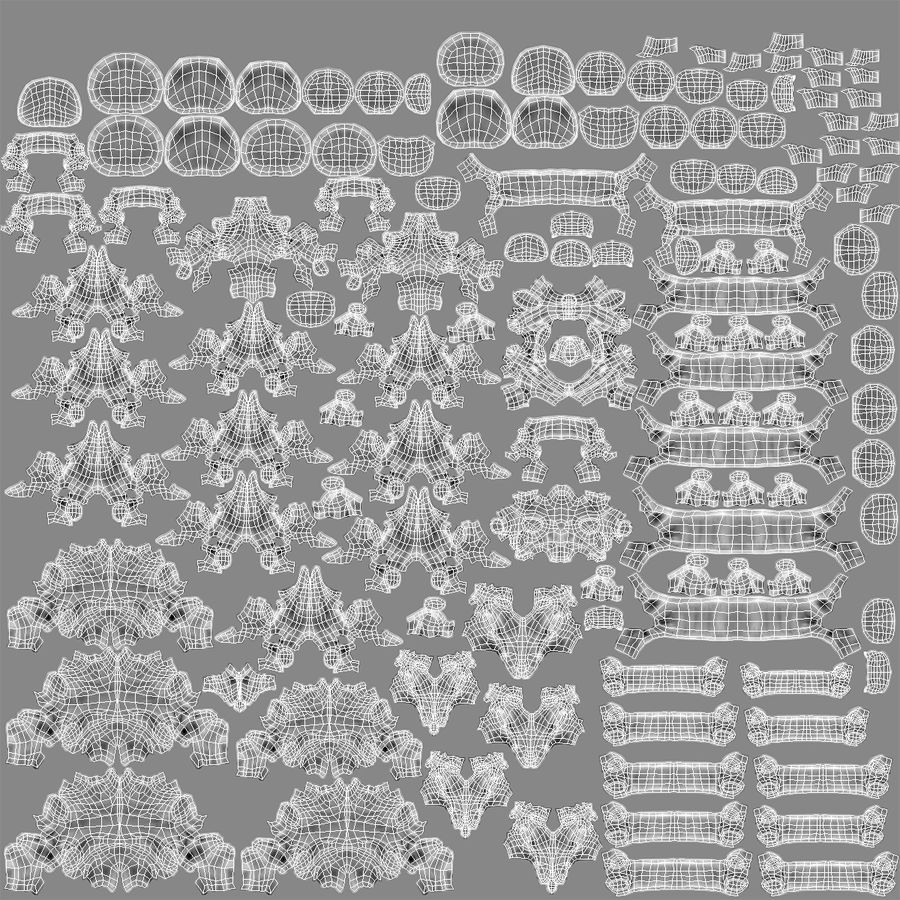 Męskie ciało ze szkieletem royalty-free 3d model - Preview no. 16