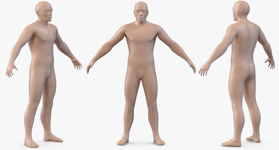 Męskie ciało ze szkieletem royalty-free 3d model - Preview no. 6