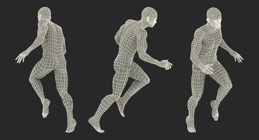 Running Man Muscles Anatomy System royalty-free 3d model - Preview no. 18