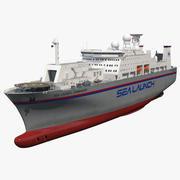 Navire de commandement Commandant de lancement en mer ACS 3d model