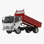 Isuzu NPR Dropside 2018 Rigged 3D Model 3d model