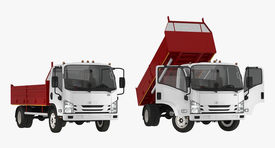 Isuzu NPR Dropside 2018 Rigged 3D Model royalty-free 3d model - Preview no. 7