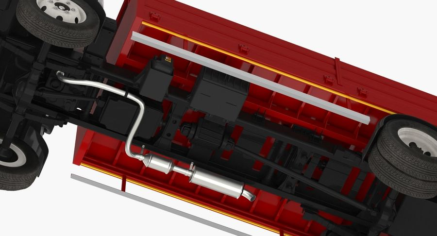 Isuzu NPR Dropside 2018 Rigged 3D Model royalty-free 3d model - Preview no. 14