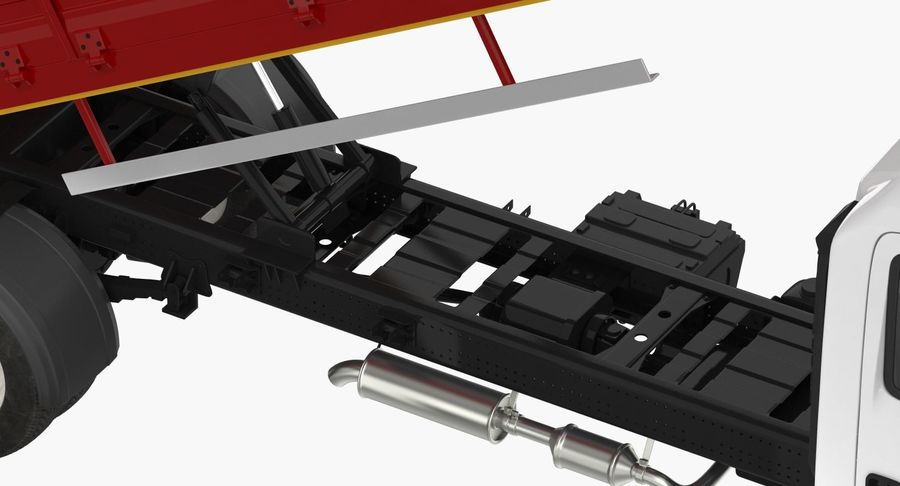 Isuzu NPR Dropside 2018 Rigged 3D Model royalty-free 3d model - Preview no. 12