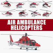 Air Ambulance Helicopters 3D Models Collection 3d model