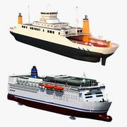 Coleção de balsas de passageiros 3d model