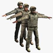 Askeri Askerler x3 3d model