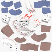 Playing Cards Collection 3d model