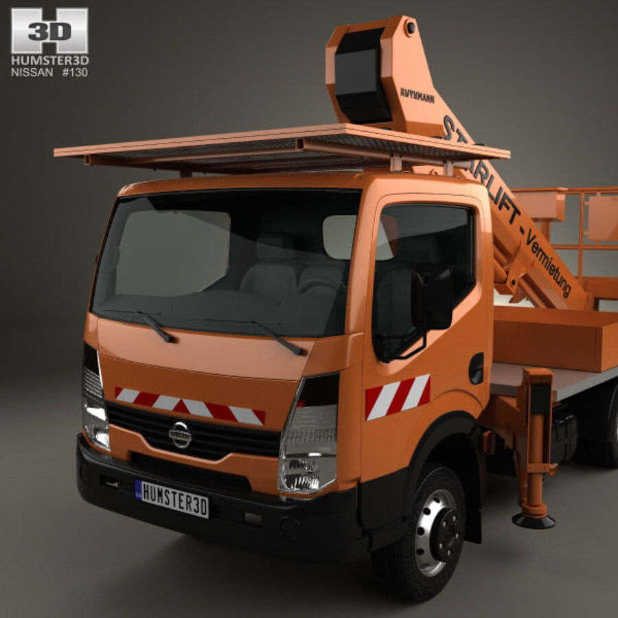 Nissan Cabstar Lift Platform Truck 2006 royalty-free 3d model - Preview no. 6