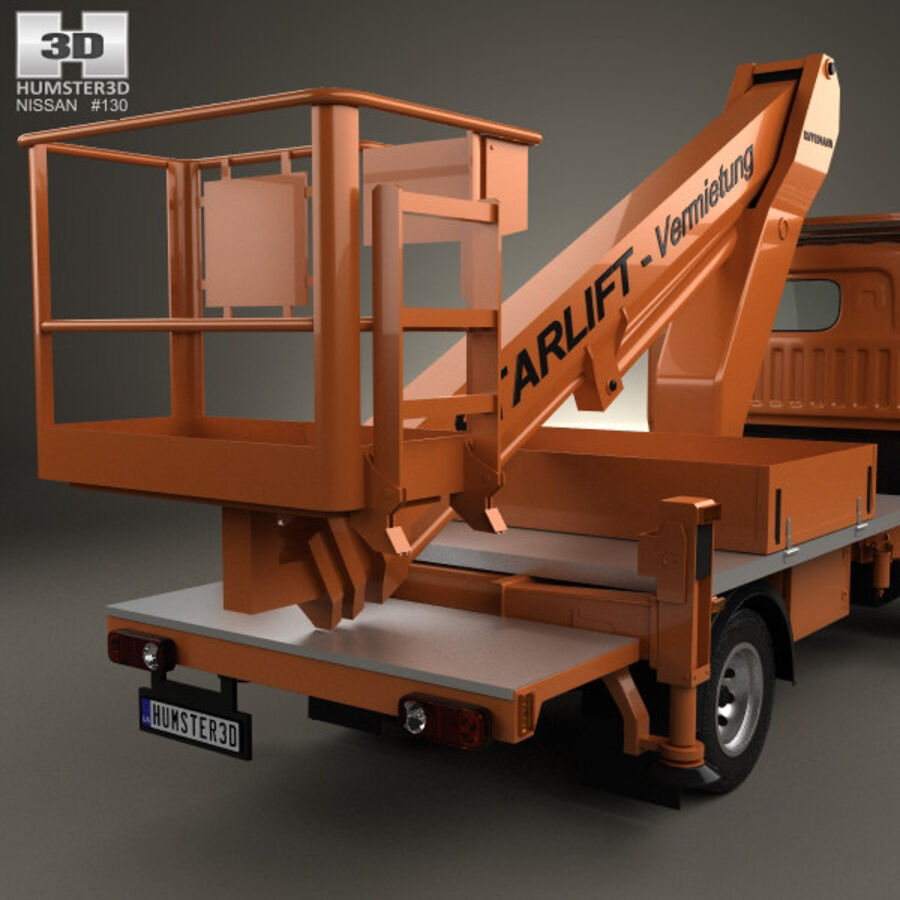 Nissan Cabstar Lift Platform Truck 2006 royalty-free 3d model - Preview no. 7