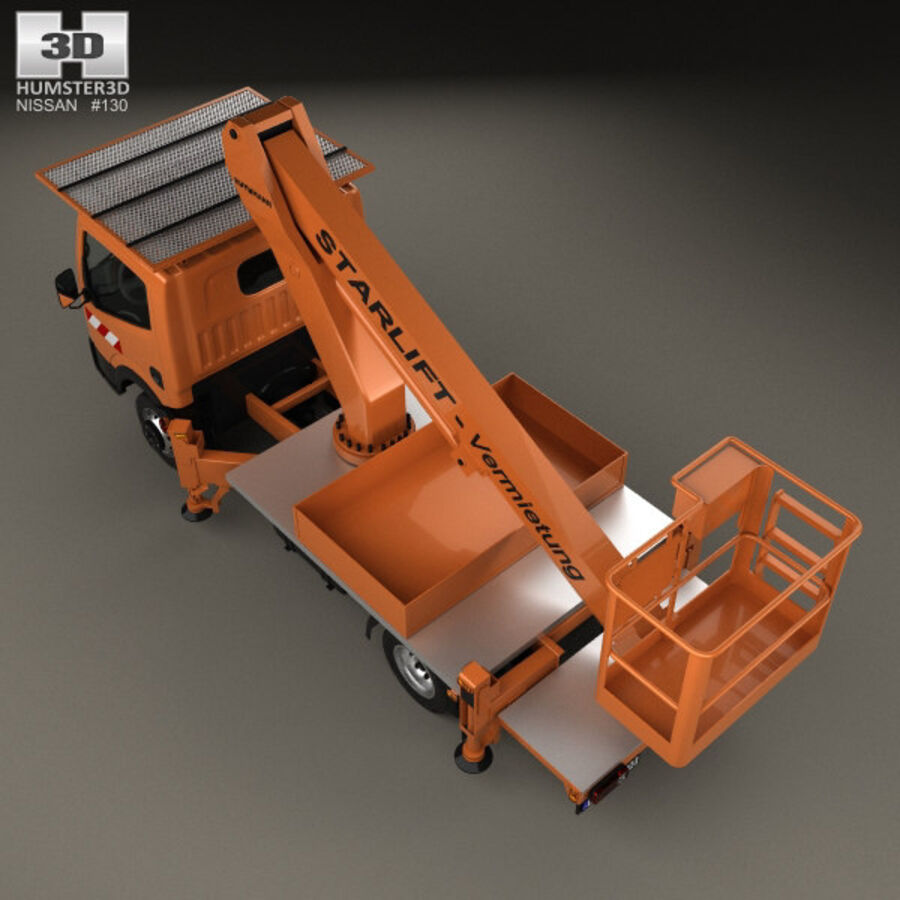 Nissan Cabstar Lift Platform Truck 2006 royalty-free 3d model - Preview no. 9