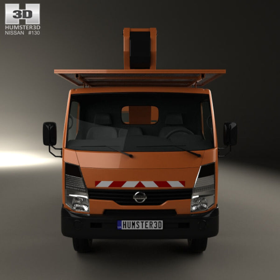 Nissan Cabstar Lift Platform Truck 2006 royalty-free 3d model - Preview no. 10