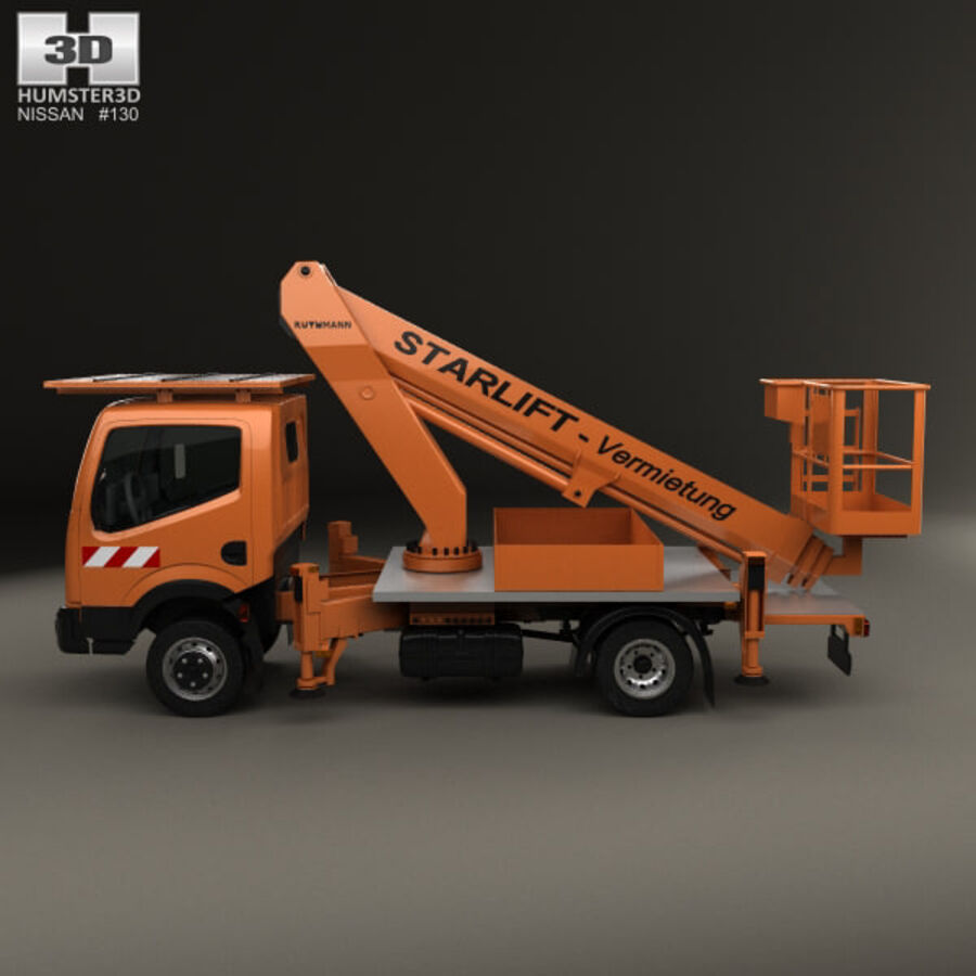 Nissan Cabstar Lift Platform Truck 2006 royalty-free 3d model - Preview no. 5