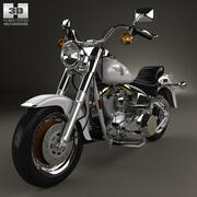 Harley-Davidson FLSTF Fat Boy 1990 3d model
