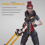 Cyber guerrier 3d model