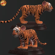 Cartoon Baby Tiger 3d model