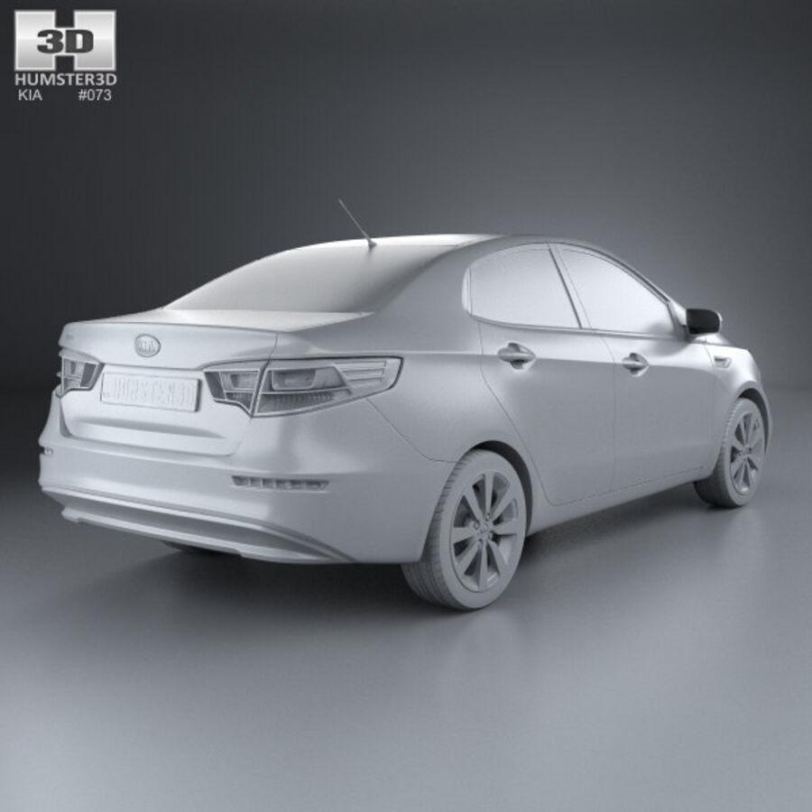 Kia Rio 2015 royalty-free 3d model - Preview no. 12