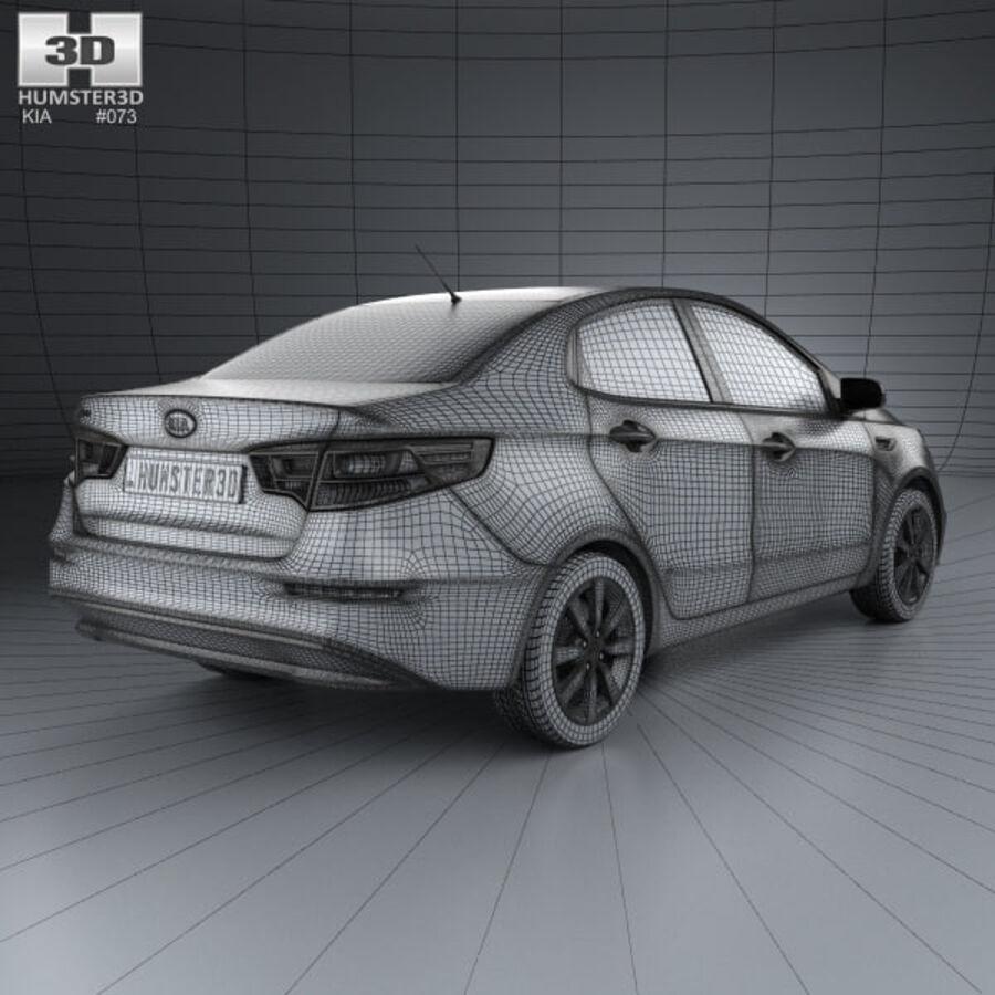 Kia Rio 2015 royalty-free 3d model - Preview no. 4