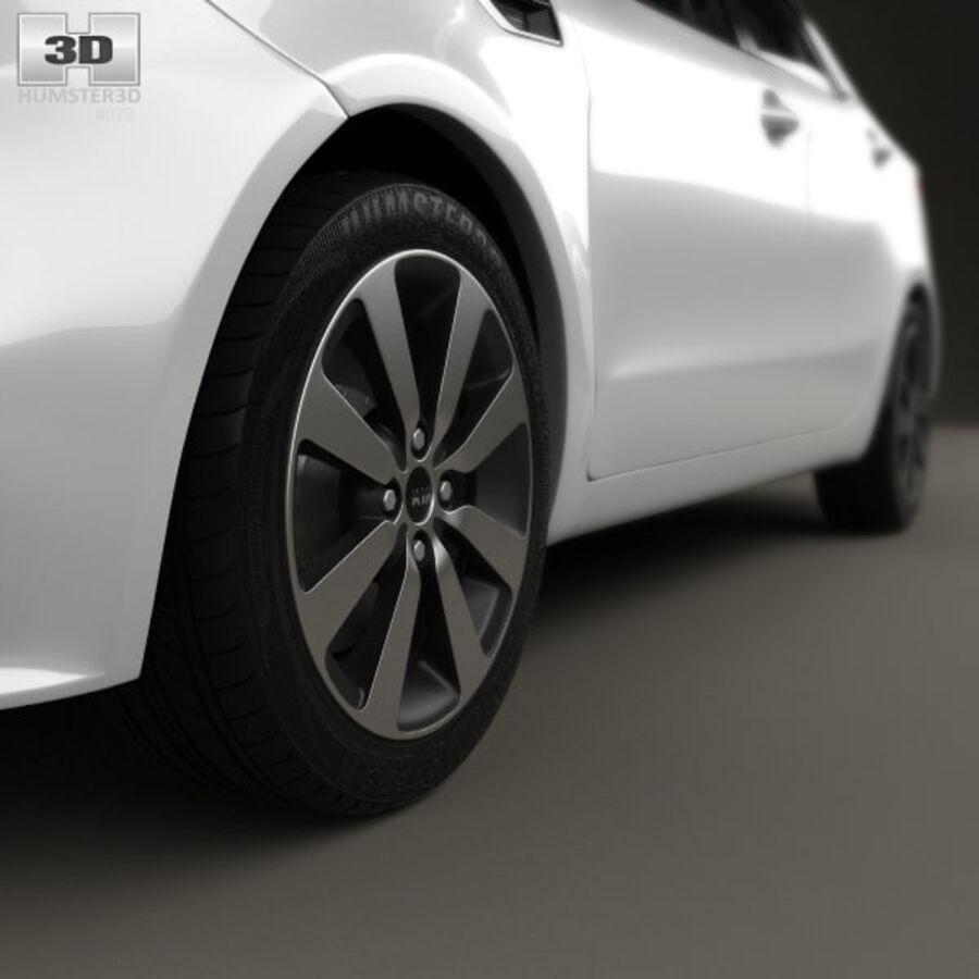 Kia Rio 2015 royalty-free 3d model - Preview no. 8