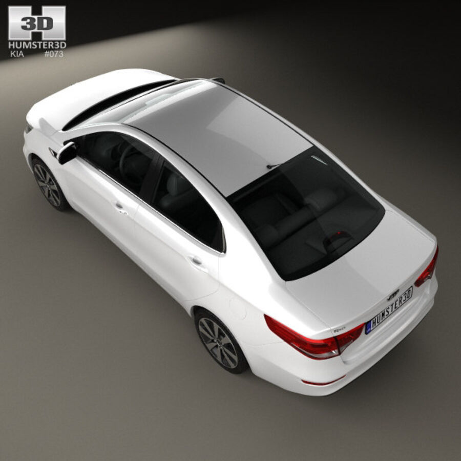 Kia Rio 2015 royalty-free 3d model - Preview no. 9