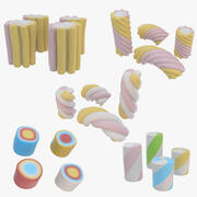 Marshmallows Collection 3d model