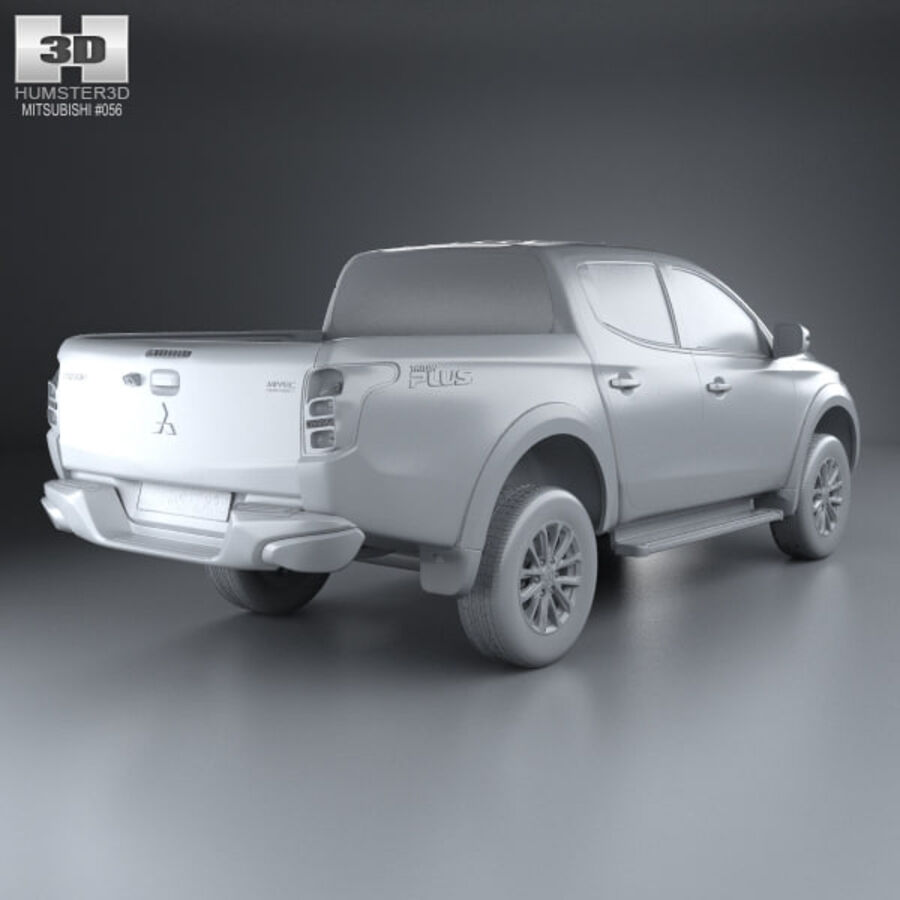 Mitsubishi L200 Triton Double Cab 2015 royalty-free 3d model - Preview no. 12